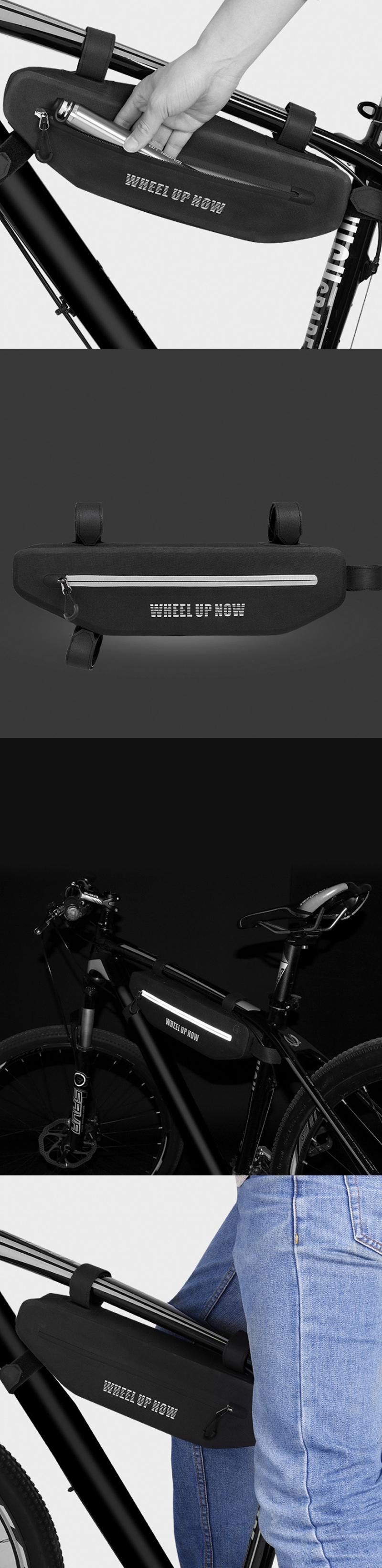 WHEELUPВелосипедноеседлоСумкаВодонепроницаемы MTB Велосипедная передняя рама Сумка Велоспорт Сумка Чехол - фото 2