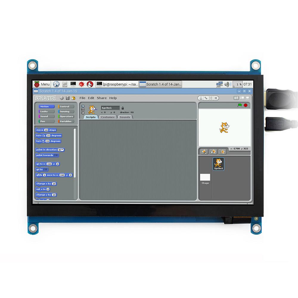 Wareshare 7 дюймов IPS HDMI Дисплей Емкостный сенсорный экран из закаленного стекла 1024x600 для игровой консоли Jetson - фото 8