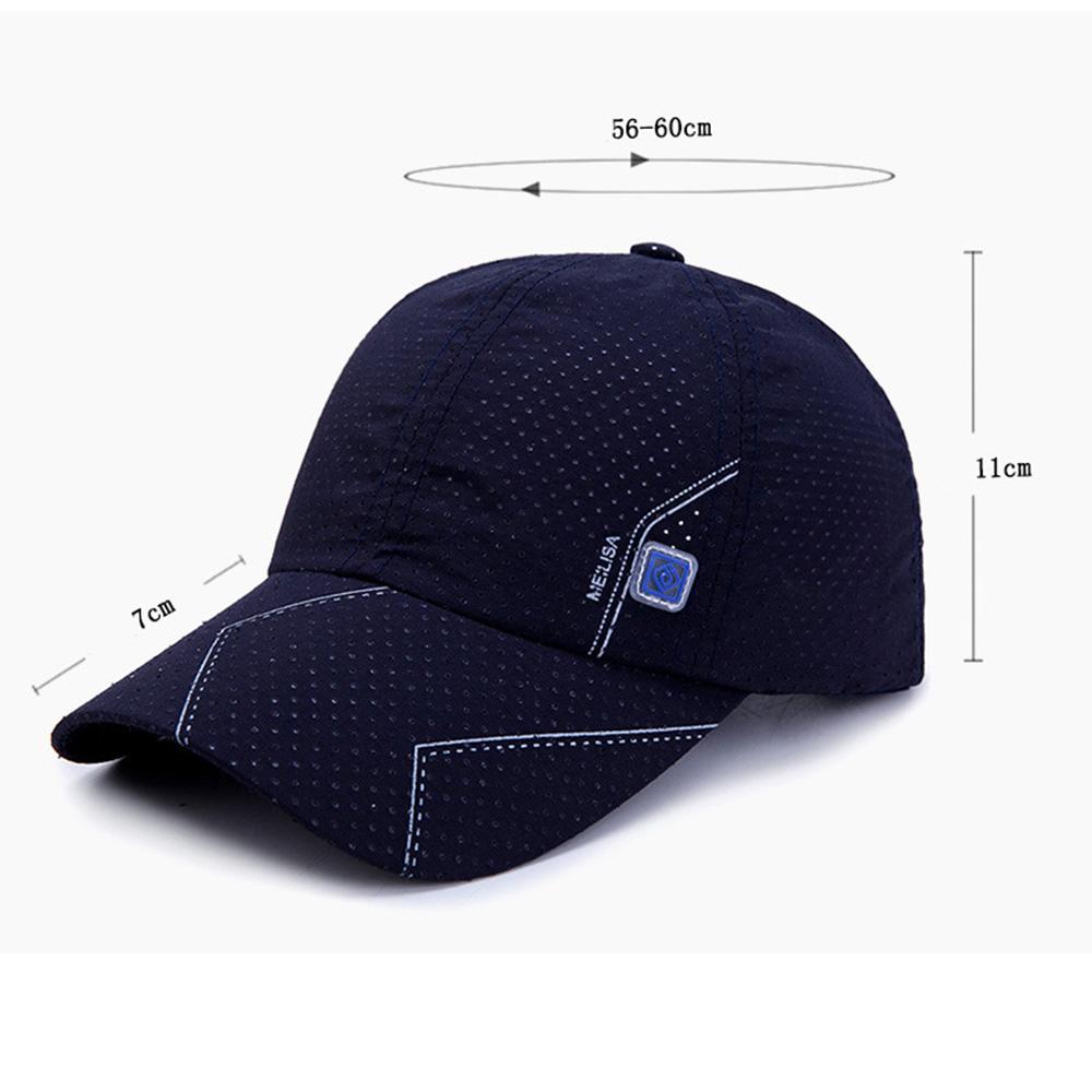 МужчиныЛетняядышащаяБыстраясушкаБейсбольная шапочка Sunshade Sun Protection Шапка Козырек - фото 6