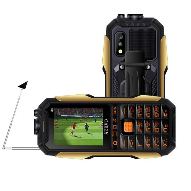 SERVO X7 2.4  4000mAh Антенна Аналоговое изменение голоса телевизора Лазер Фонарик OTG 3 SIM-карты с функцией телефона - фото 1