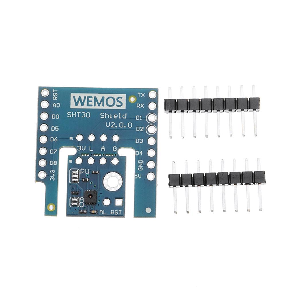 5 шт. Wemos® SHT30 Щит V2.0.0 SHT30 I2C Цифровой модуль температуры и влажности Датчик для D1 мини - фото 2