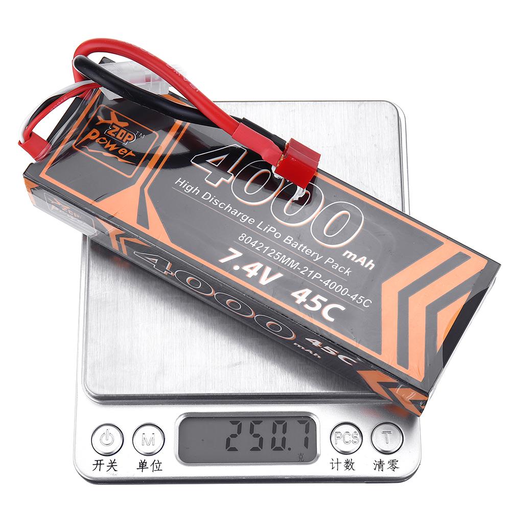 ZOP Power 7.4V 4000mAh 45C 2S Lipo Батарея T Plug для RC Авто - фото 9