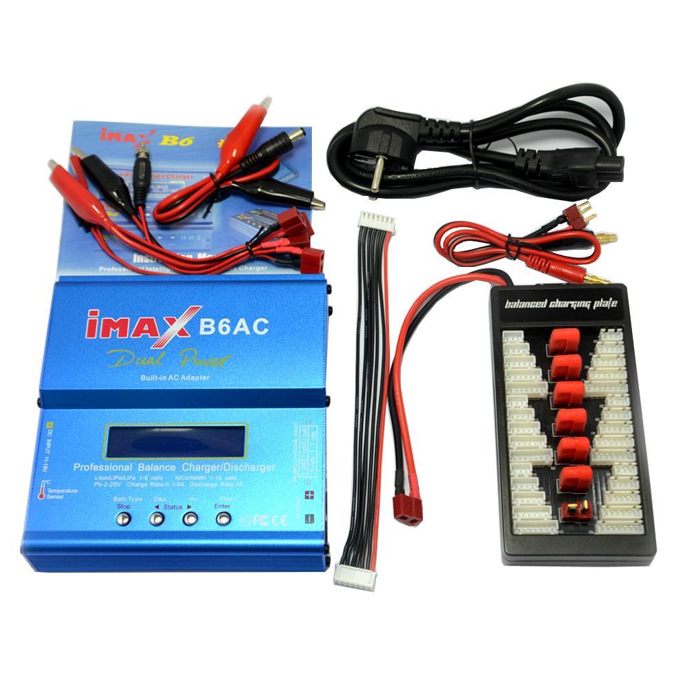 IMAX B6AC 80 Вт 6A Зарядное устройство с двумя весами и зарядным устройством с параллельной зарядкой XT60 T Plug - фото 1