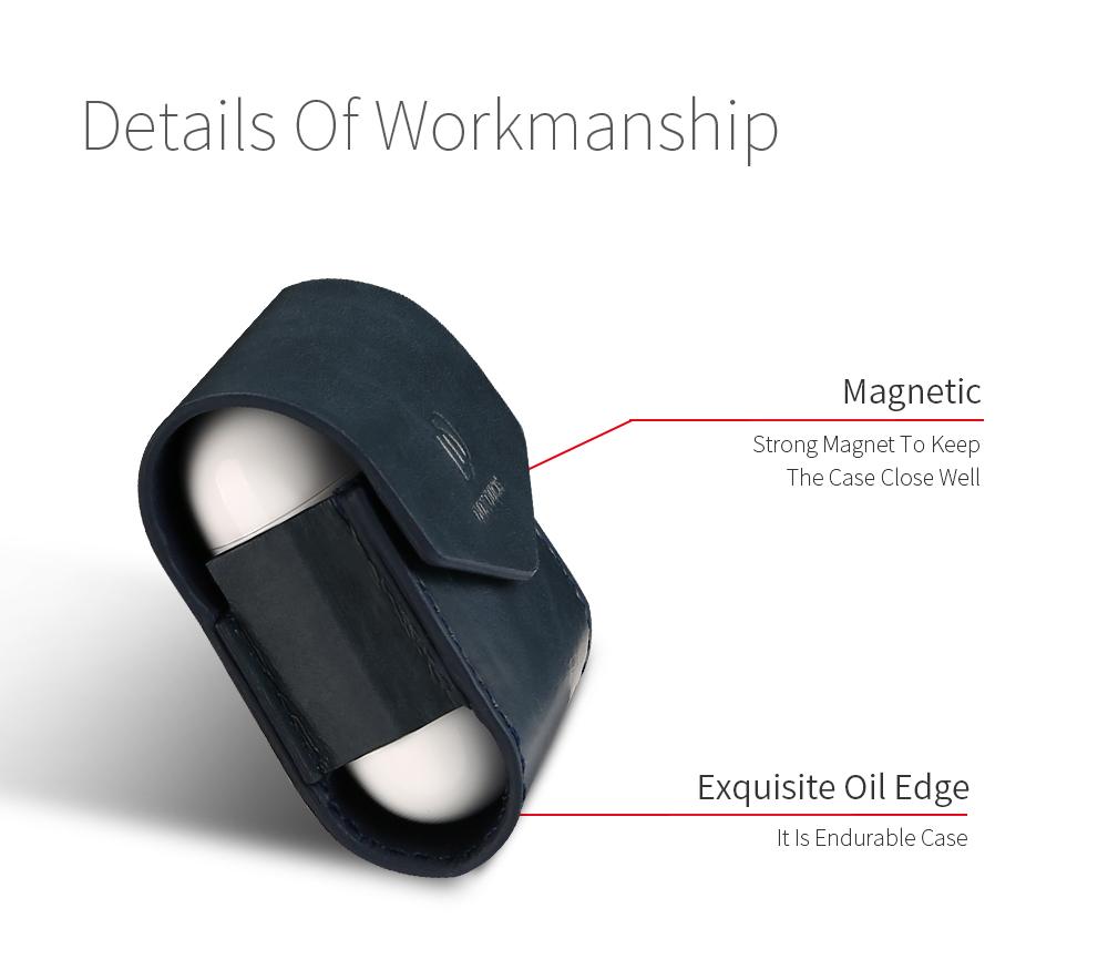 DUX DUCIS Для Apple AirPods Чехол Роскошный кожаный магнитный чехол для Airpods Наушник - фото 6
