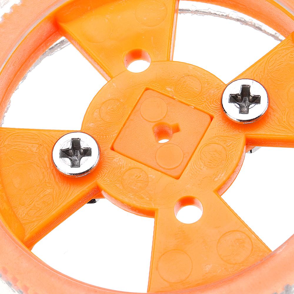 4шт 70 * 12мм Желтые износостойкие резиновые колеса для двигателя N20 - фото 5