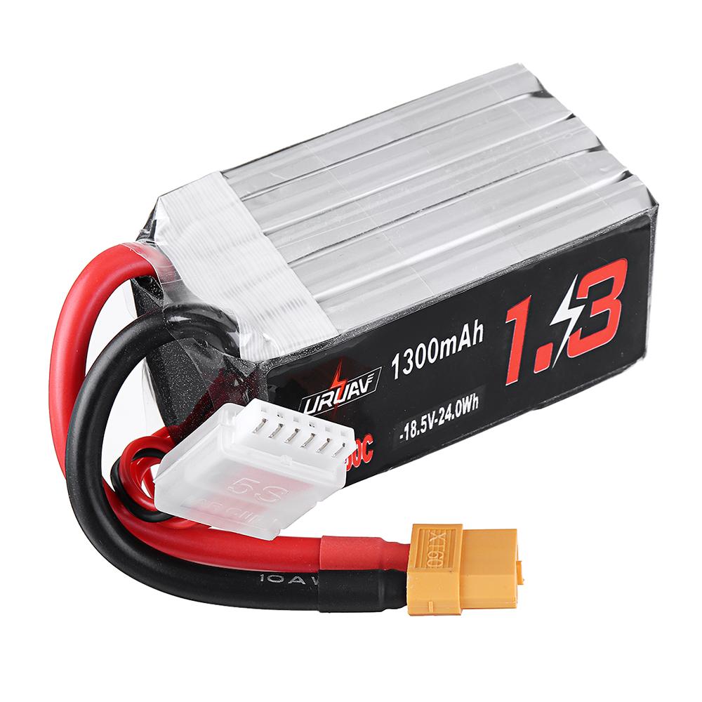 URUAV 18,5 В 1300 мАч 80C / 160C 5S XT60 Штекер Lipo Батарея для FPV RC Дрон - фото 2
