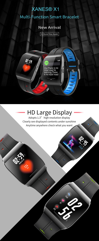 XANES®X11,3-дюймовыйцветнойсенсорныйэкран IP68 Водонепроницаемы Smart Watch Секундомер Фитнес Спортивный браслет - фото 1