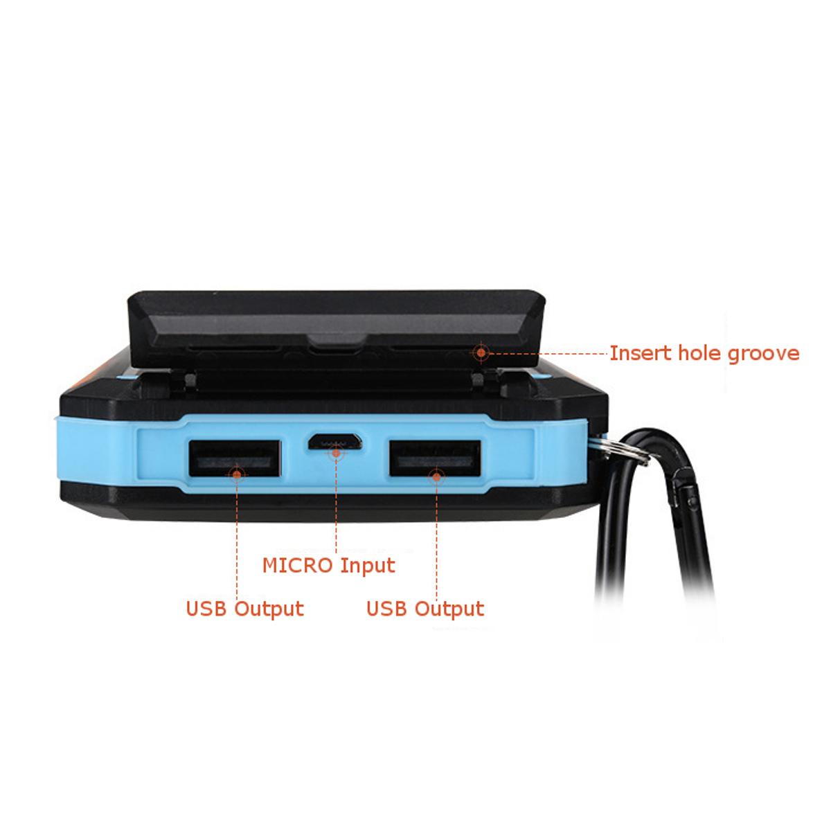 Bakeey LED Flashight 10000mAh Dual USB Солнечная Energy DIY Банк питания Батарея Чехол Для планшета мобильного телефона - фото 6