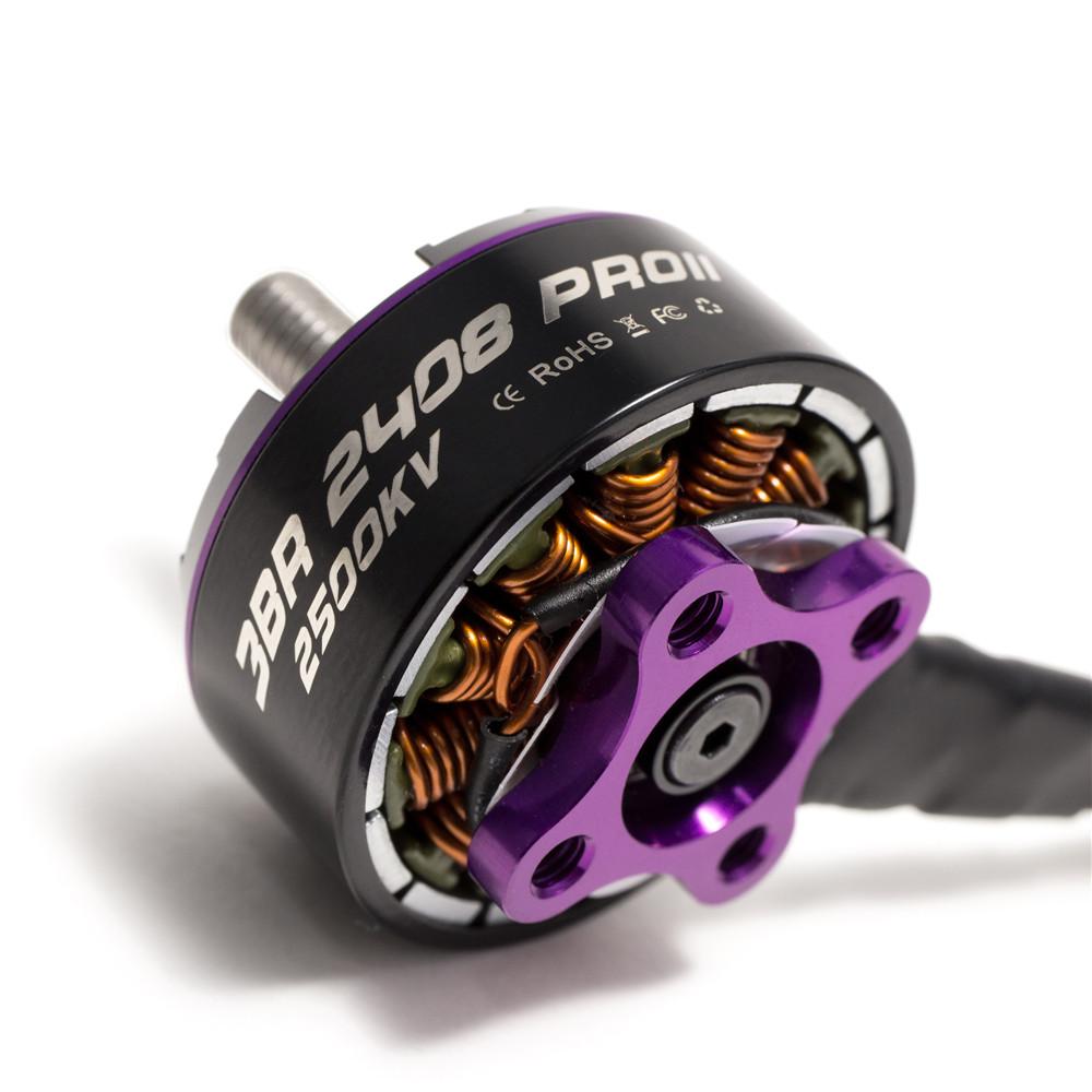 3BHOBBY Racing Мотор 2408 PROII KV1900 / 2500 6S / 4S Бесколлекторный мотор Для FPV RC Дрон - фото 3