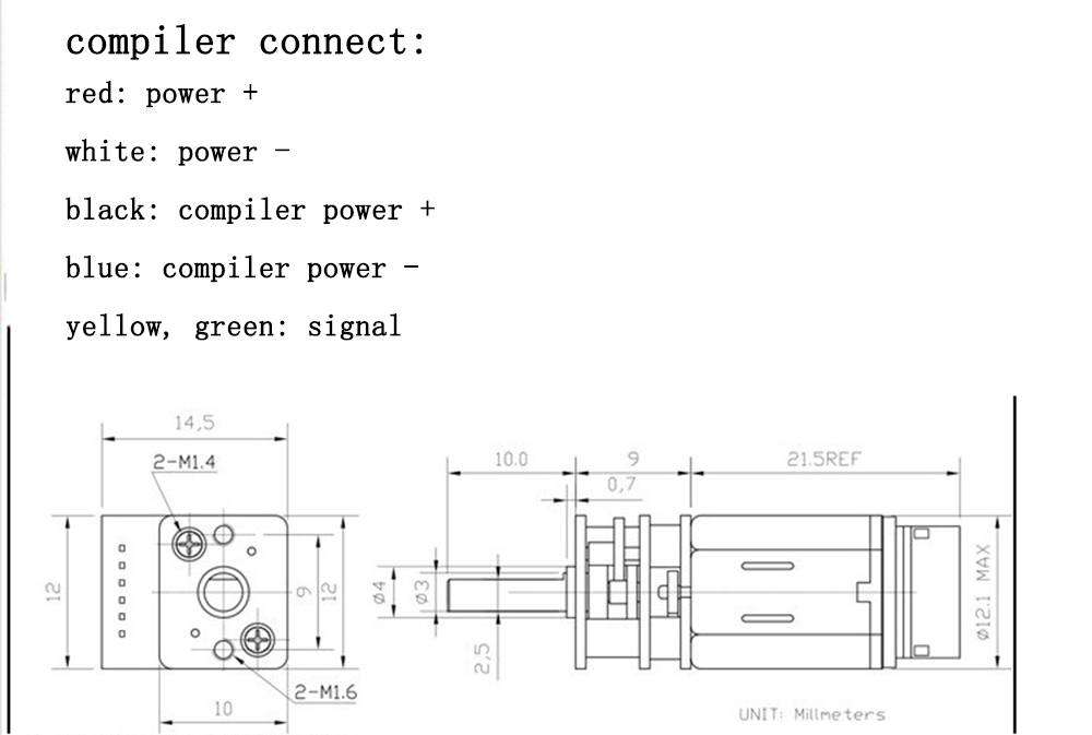 Small Hammer M110 GA12-N20 Скомпилировано 6 В 60 об / мин DC Мотор Для DIY RC Авто - фото 5