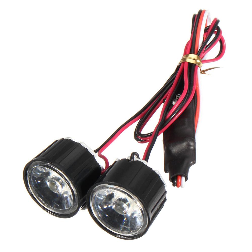 1 пара Светодиодный Фара дальнего света RC Авто DIY для Traxxas Slash REVO E-REVO X-MAXX - фото 4