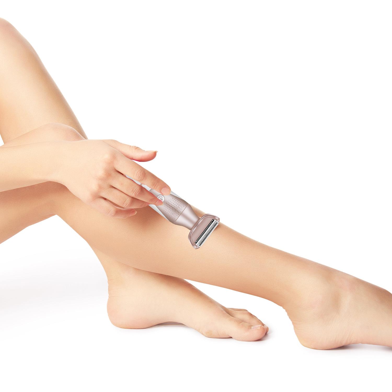 5 в 1 Леди Эпилятор Электрический Уход за лицом Волосы Съемник для ног Волосы Снятие Бритва Бритва для тела для бикини с - фото 3