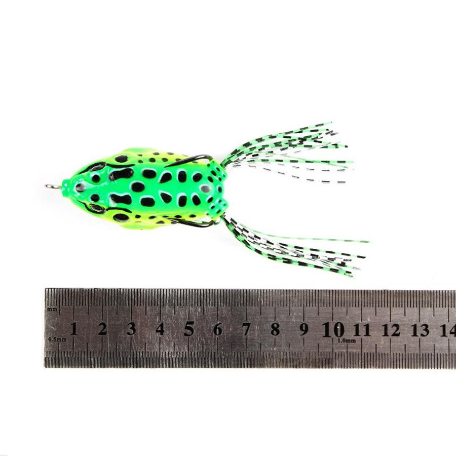 5Pcs/Set14g11cmПластик Soft Двойной Крюк Лягушка Lure Искусственный верхушечный воблер Рыбалка Приманка - фото 5