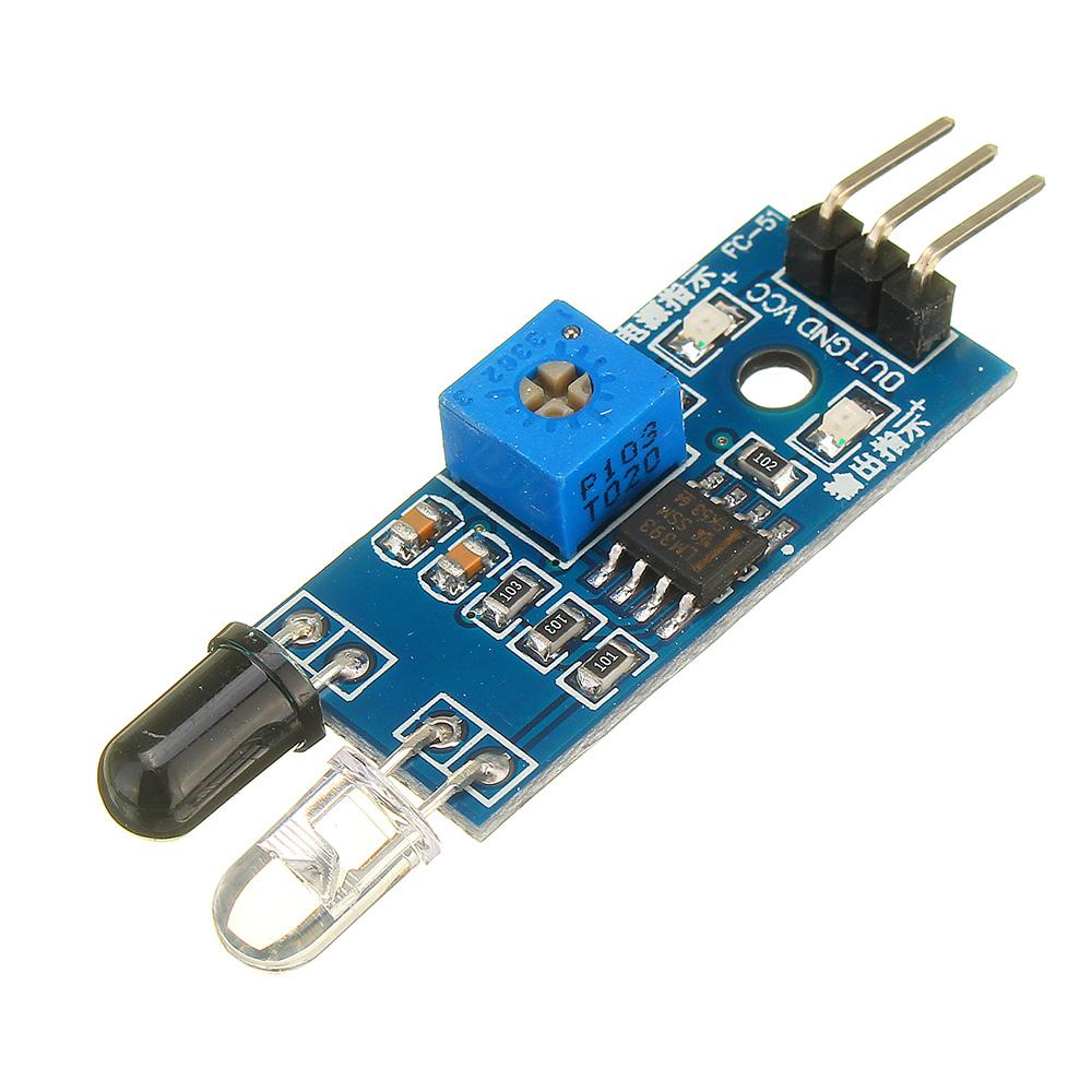 Фотоэлектрический Датчик инфракрасный модуль сигнализации предупреждения отражения препятствий 30шт - фото 1