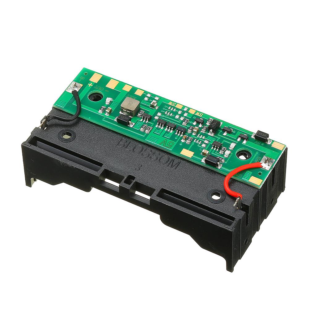 3шт 5V 2 * 18650 Литий Батарея Зарядка ИБП Непрерывная защита Встроенный модуль повышения платы с держателем Батарея - фото 2