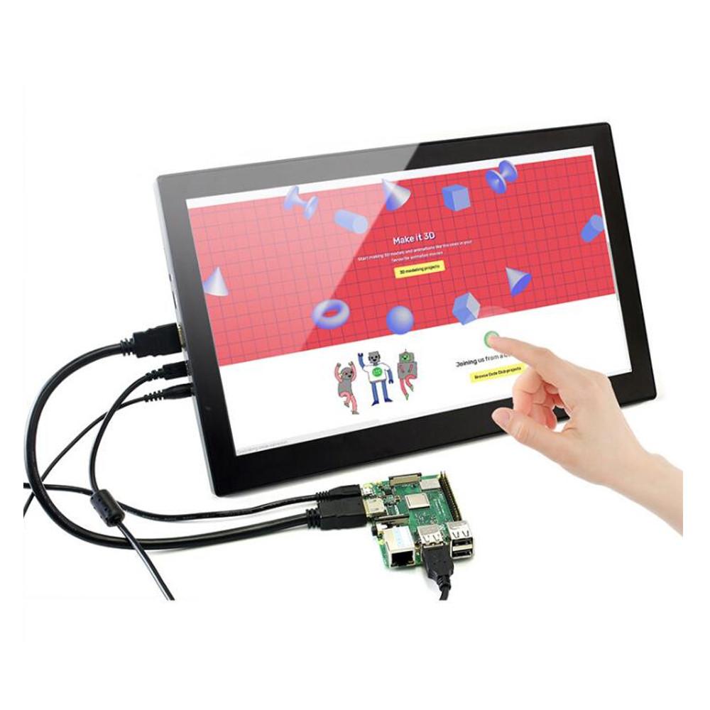 Wareshare 13,3 дюймов HDMI VGA HD Дисплей с емкостным сенсорным экраном из закаленного стекла 1920x1080 для NVIDIA Jetso - фото 8