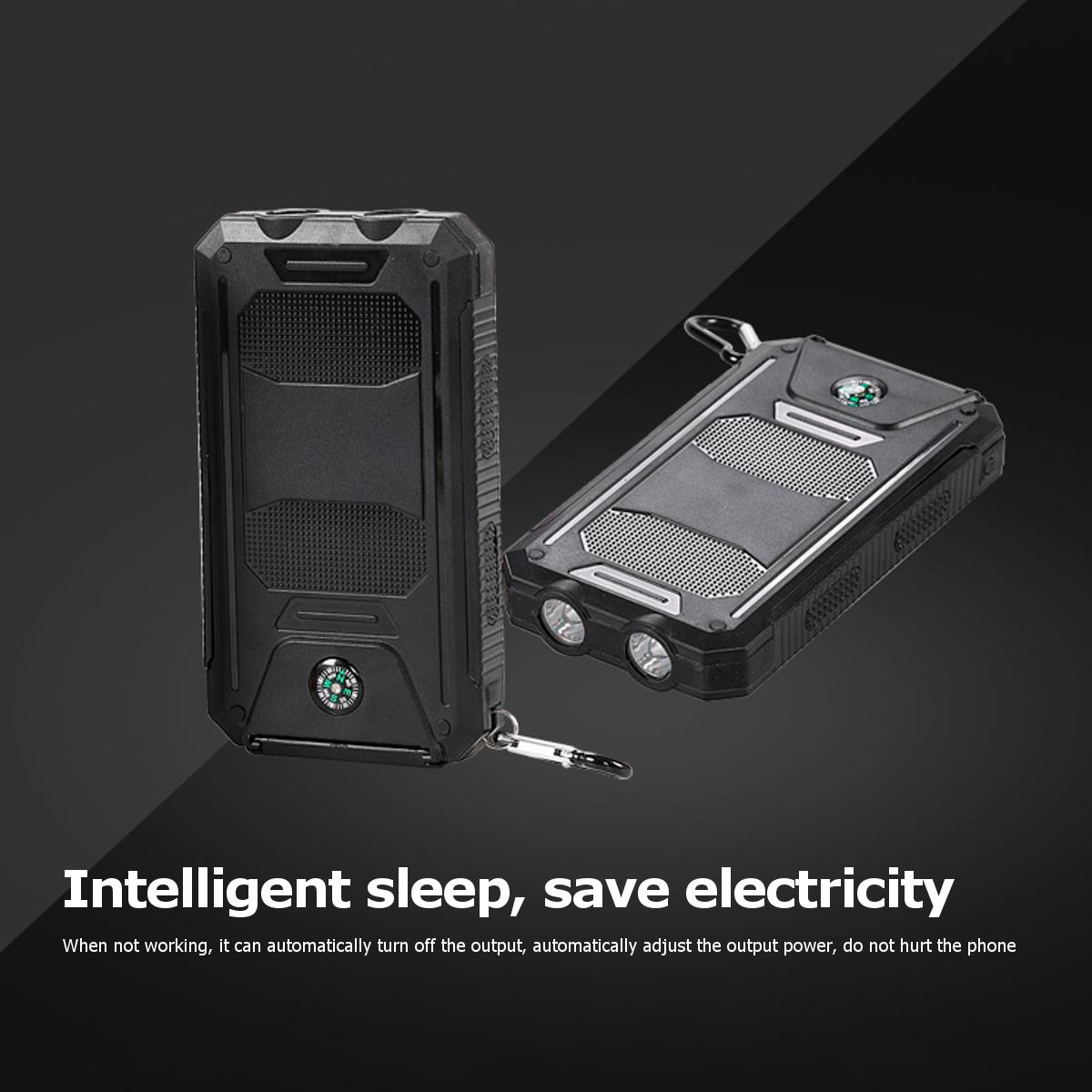 Bakeey LED Flashight 10000mAh Dual USB Солнечная Energy DIY Банк питания Батарея Чехол Для планшета мобильного телефона - фото 4