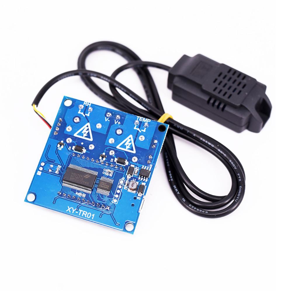 Цифровой Дисплей модуль контроля температуры и влажности с двойным выходом Автоматическая приборная панель с Датчик - фото 4