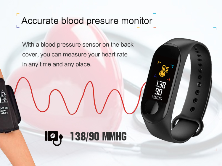 XANES MI3 0,96 '' TFT IP68 Водонепроницаемы Smart Bracelet Sleep Blood Oxygen Монитор Smart Watch mi band - фото 5