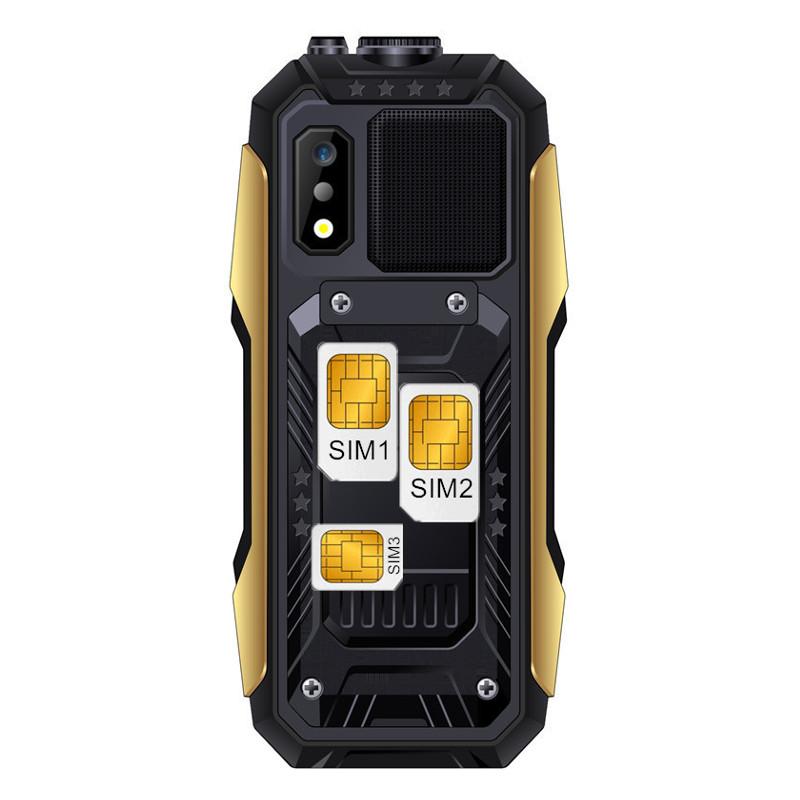 SERVO X7 2.4  4000mAh Антенна Аналоговое изменение голоса телевизора Лазер Фонарик OTG 3 SIM-карты с функцией телефона - фото 7