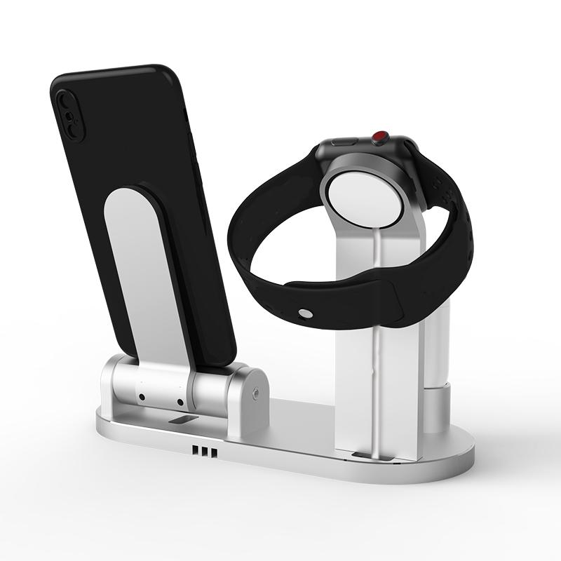 3 в 1 держатель телефона док-станции для зарядки из алюминиевого сплава для iPhone Apple AirPods серии Apple Watch - фото 3