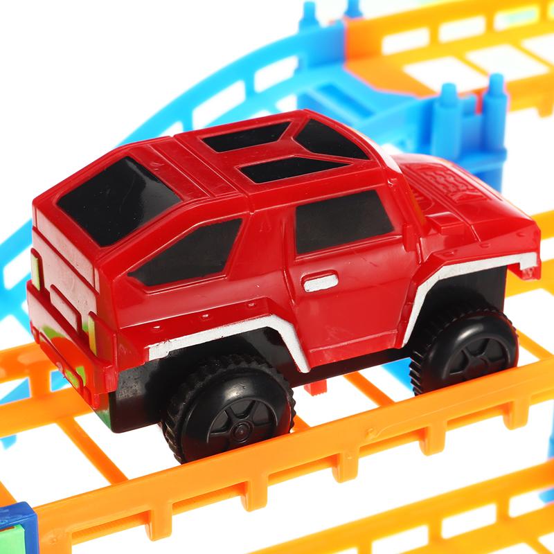 88шт / 90шт DIY трек гонки Авто детские игрушки Набор электрические Авто трек игрушки детские подарки 63,5 * 31,5 * 14,5 - фото 10