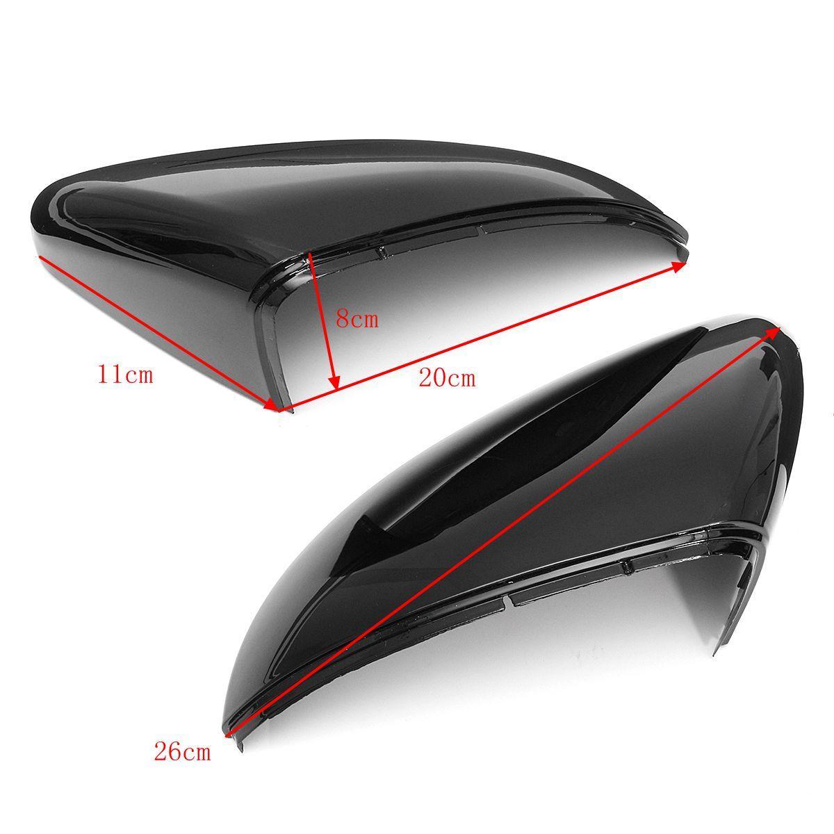 Парное крыло заднего вида Авто Крышка зеркала с накладкой для гольфа GTI MK6 Touran - фото 5