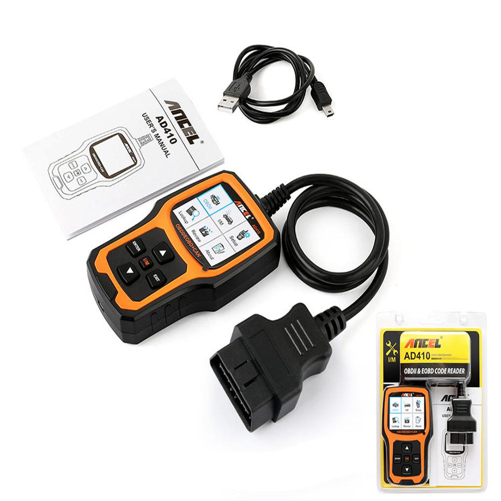 Ancel AD410 OBD2 Оригинальный OBD EOBD Automotive Авто Диагностический сканер Инструмент Сканер кодов Набор - фото 4