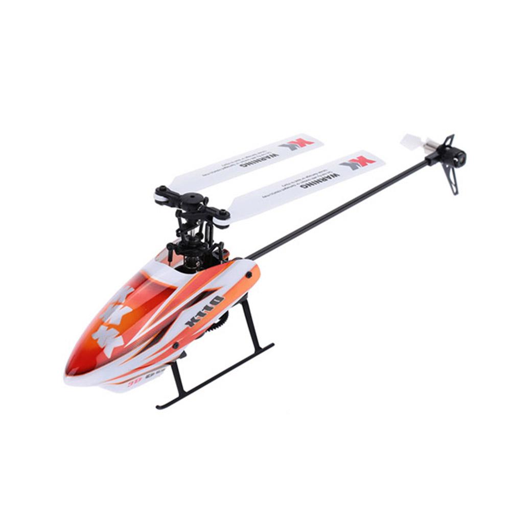XK K110 2.4G 6CH 3D Flybarless RC Вертолет RTF Совместимо с FU-TABA S-FHSS С 4PCS 3.7V 450MAH Lipo Батарея - фото 3