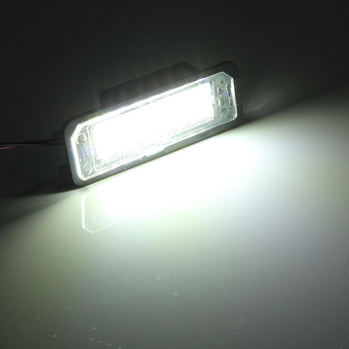 2 ШТ. 24 светодиода Номер лицензии Пластина Фары белого цвета для VW Passat Golf MK5 MK6 POLO - фото 7