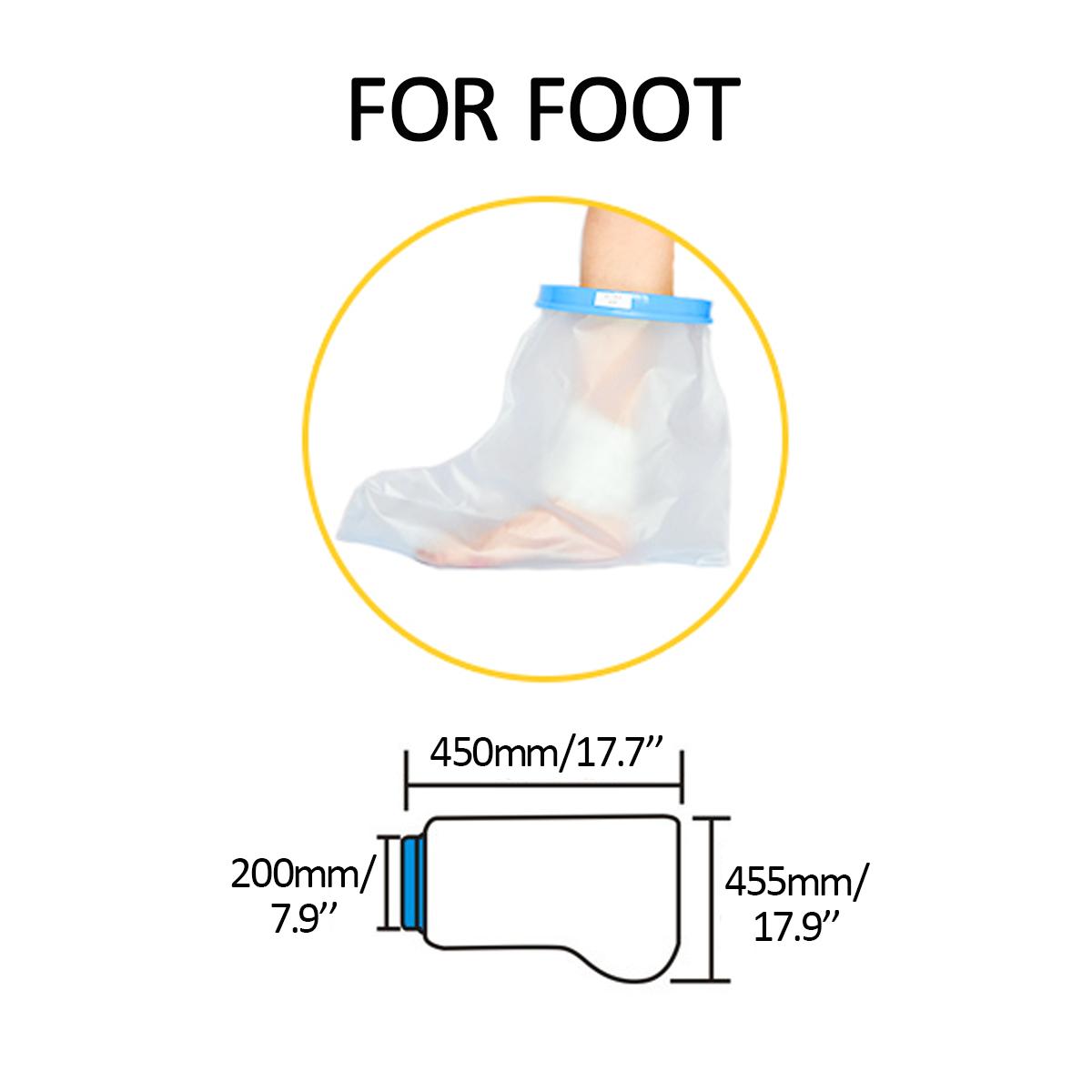 Литая повязка Водонепроницаемы Защитная крышка Душ для ванны Для взрослых Короткая ножка, многоразовая, для руки, ноги, - фото 5