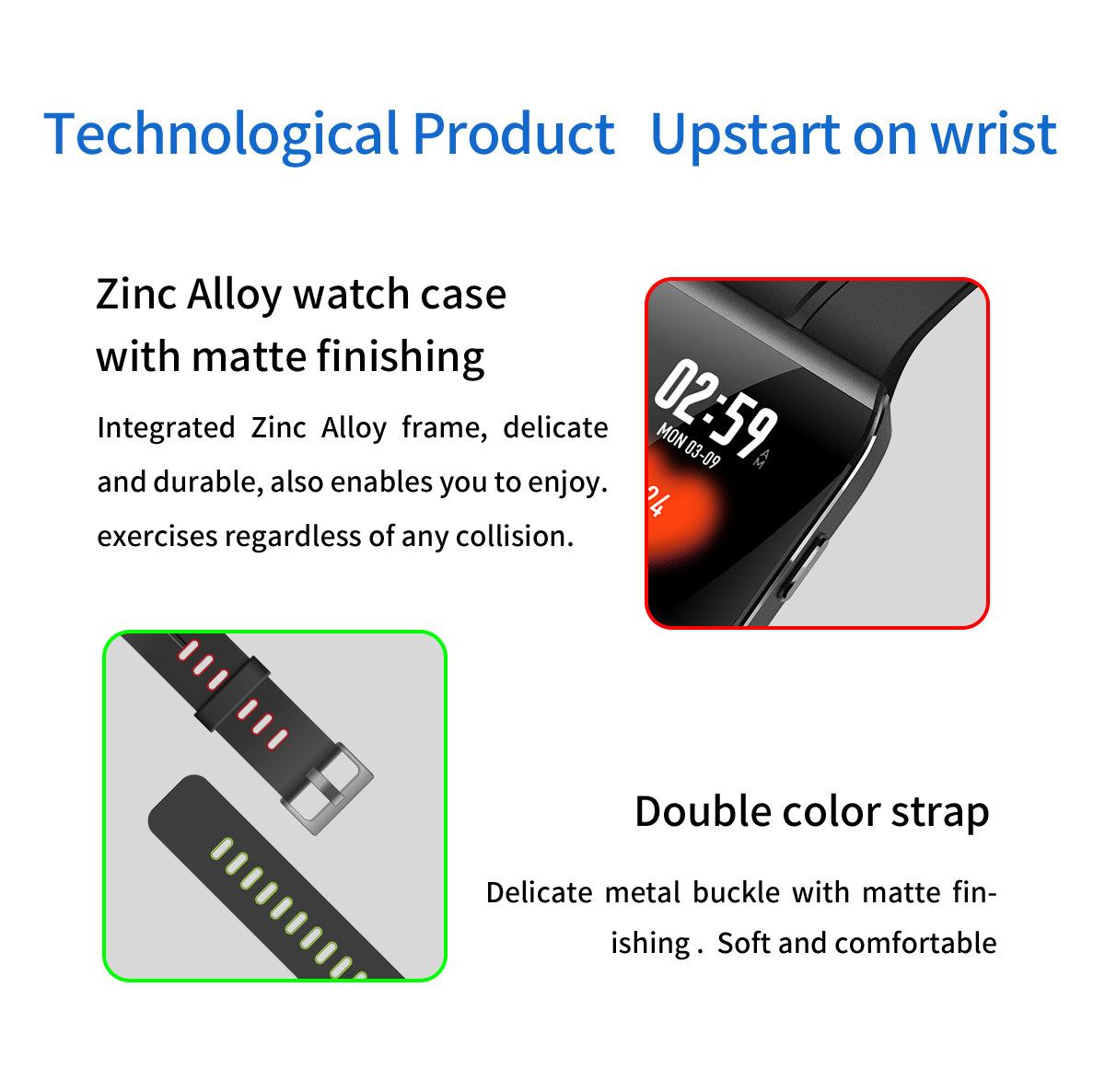 XANES®X11,3-дюймовыйцветнойсенсорныйэкран IP68 Водонепроницаемы Smart Watch Секундомер Фитнес Спортивный браслет - фото 8