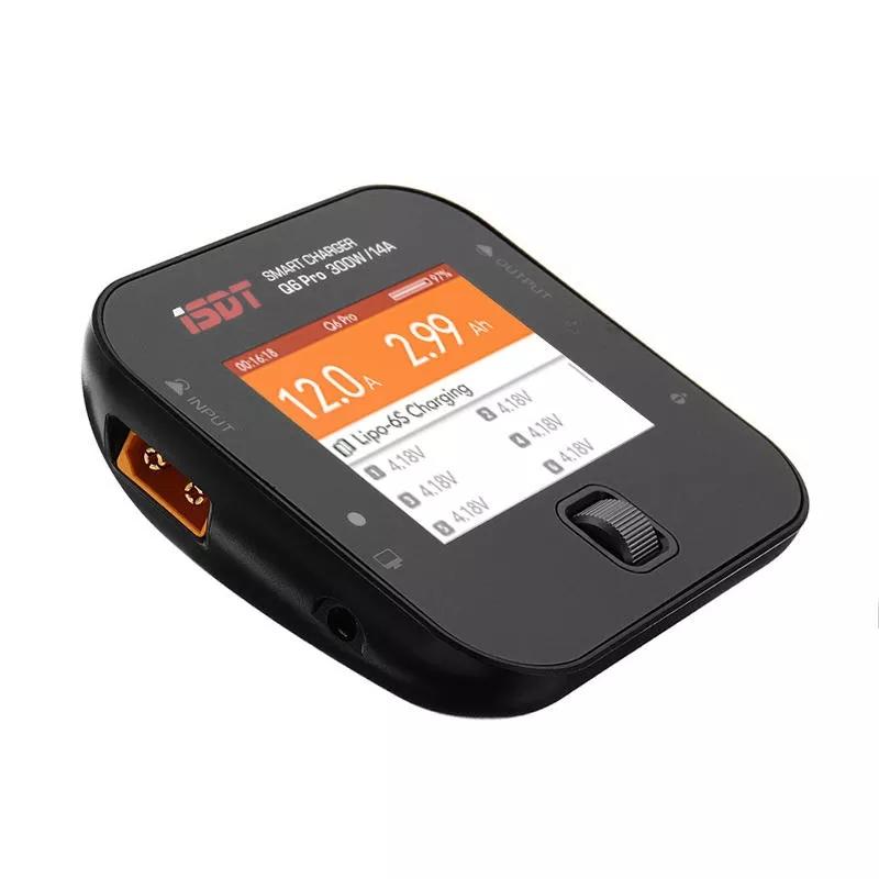 ISDT Q6 Pro BattGo 300W 14A Pocket Lipo Батарея Балансировочное зарядное устройство с адаптером питания LANTIAN 400 Вт - фото 3