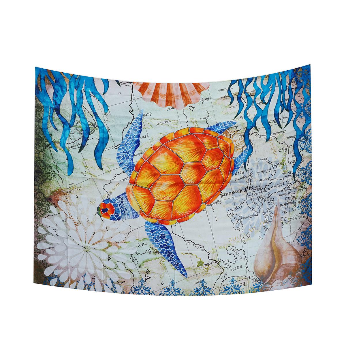 МорскаяЧерепахаПодвеснойГобеленСтеныДома Декоративные Tapete Спальня Одеяло Скатерть Yoga Мат - фото 5