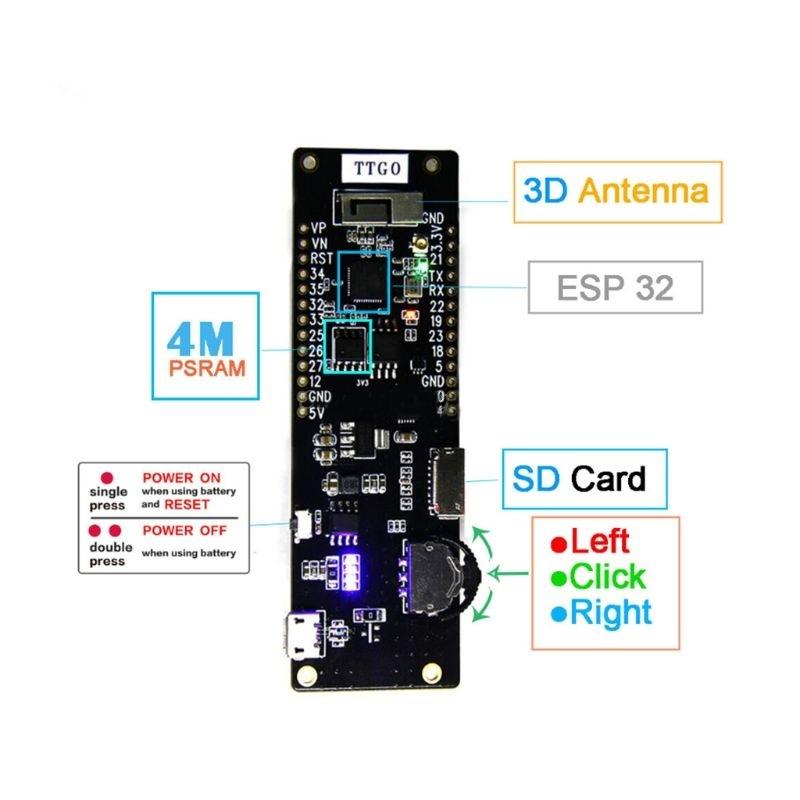 LILYGO TTGO Bluetooth-модуль WiFi 18650 Батарея Держатель сиденья 2A Предохранитель ESP32 4MB SPI Flash - фото 1