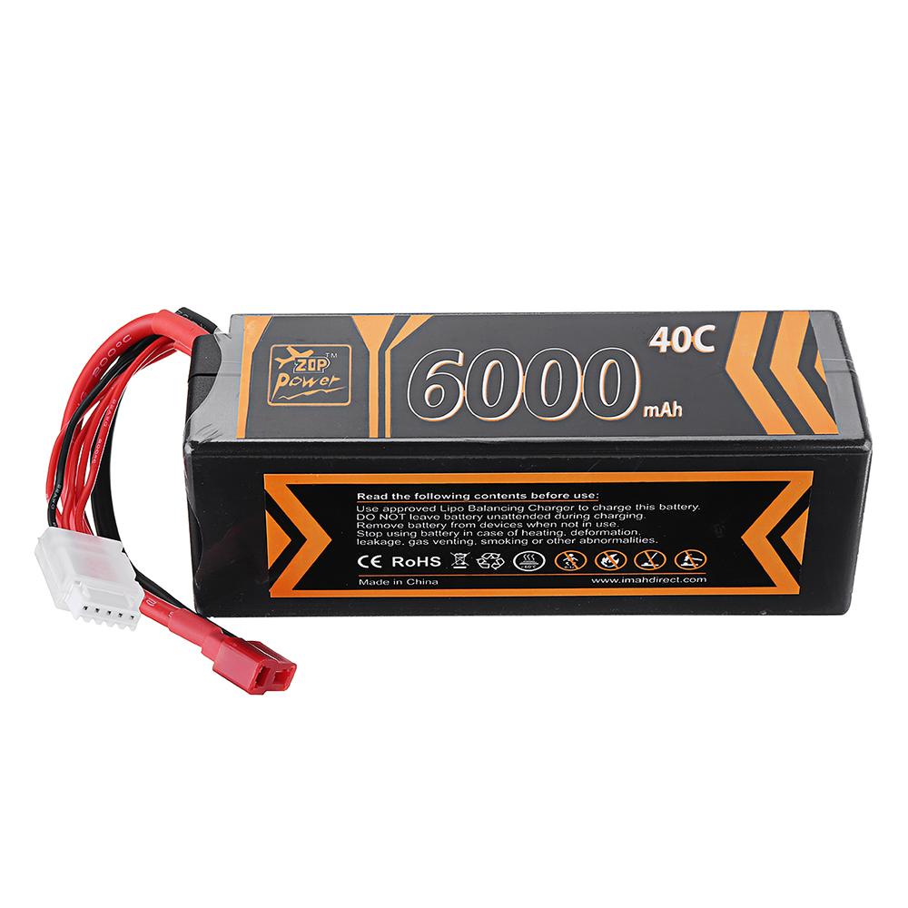 ZOP Power 14.8V 6000mAh 40C 4S Lipo Батарея T Plug для RC Авто RC Самолет - фото 3
