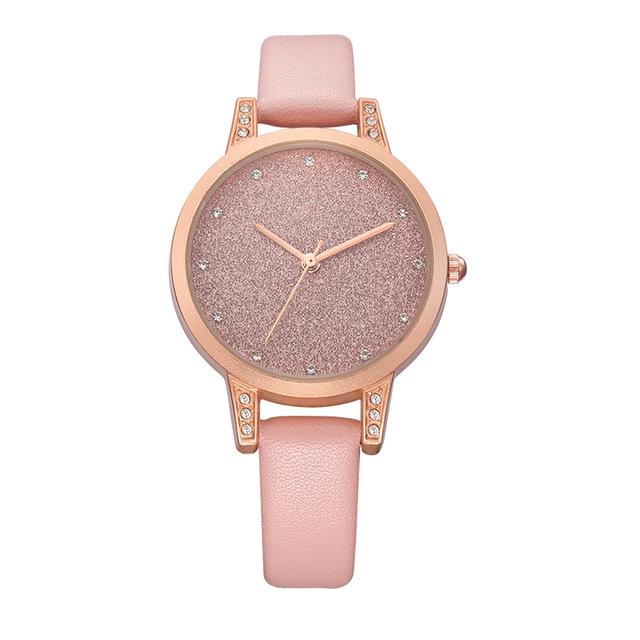 REBIRTH RE018 Rhinestone Elegant Дизайн Женское Наручные часы Розовое золото Чехол Кварцевые часы - фото 1