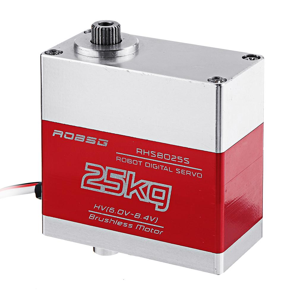 ROBSG RHS8025S 25KG Бесколлекторный Металлический редуктор с двойным шарикоподшипником Digital Сервопривод Для 1/8 1/10 - фото 2