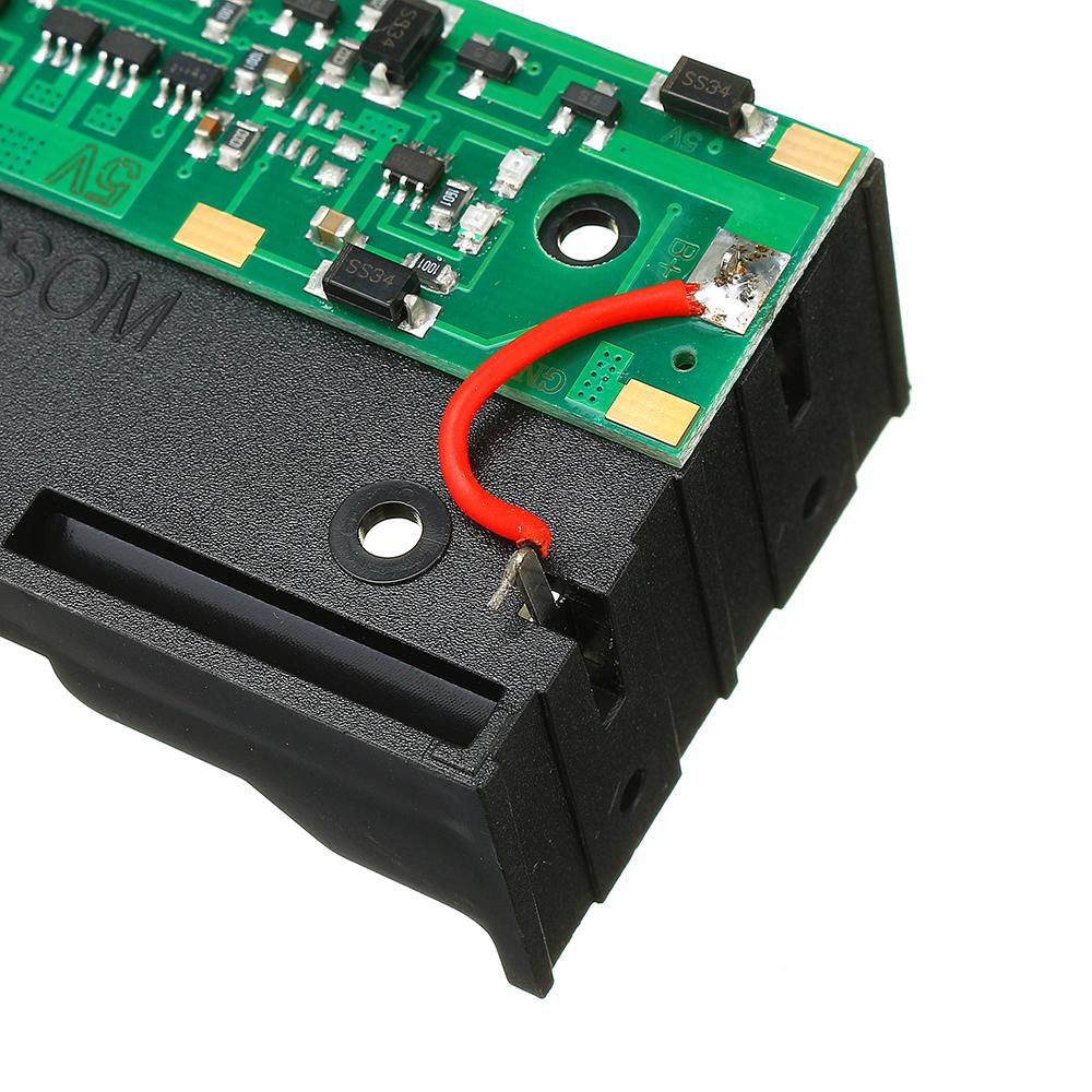3шт 5V 2 * 18650 Литий Батарея Зарядка ИБП Непрерывная защита Встроенный модуль повышения платы с держателем Батарея - фото 7