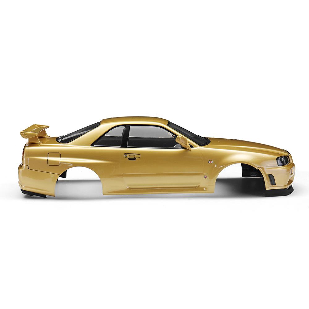 Killerbody 48645 NISSAN SKYLINE (R34) Готовый корпус Shell Champaign-gold для 1/10 Touring Авто - фото 3