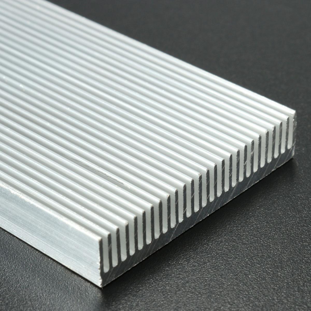 5pcs 100x41x8mm алюминиевый радиатор радиатора радиатора для высокой мощности LED Усилитель Охлаждение транзистора - фото 4