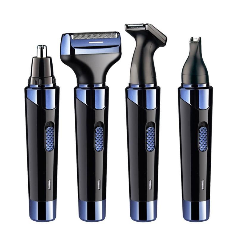4 в 1 электрический мини моющийся бритва Волосы Триммер нос Волосы для удаления многофункциональный мужской эпилятор - фото 2