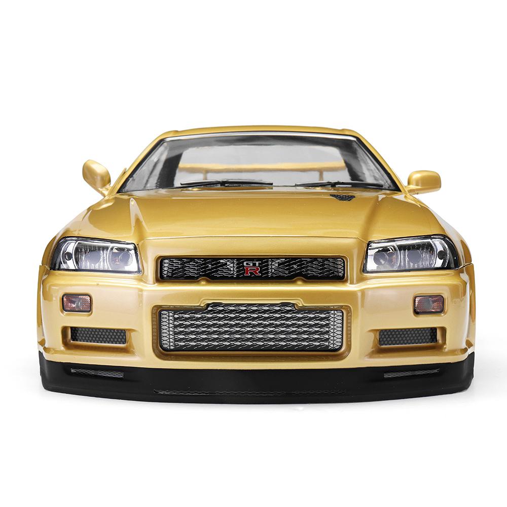 Killerbody 48645 NISSAN SKYLINE (R34) Готовый корпус Shell Champaign-gold для 1/10 Touring Авто - фото 4