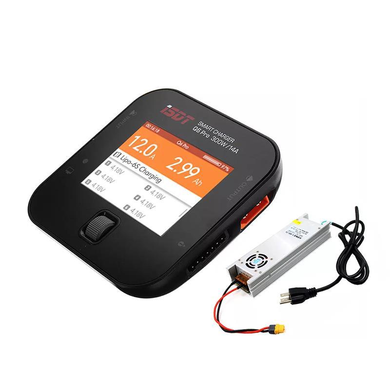 ISDT Q6 Pro BattGo 300W 14A Pocket Lipo Батарея Балансировочное зарядное устройство с адаптером питания LANTIAN 400 Вт - фото 1