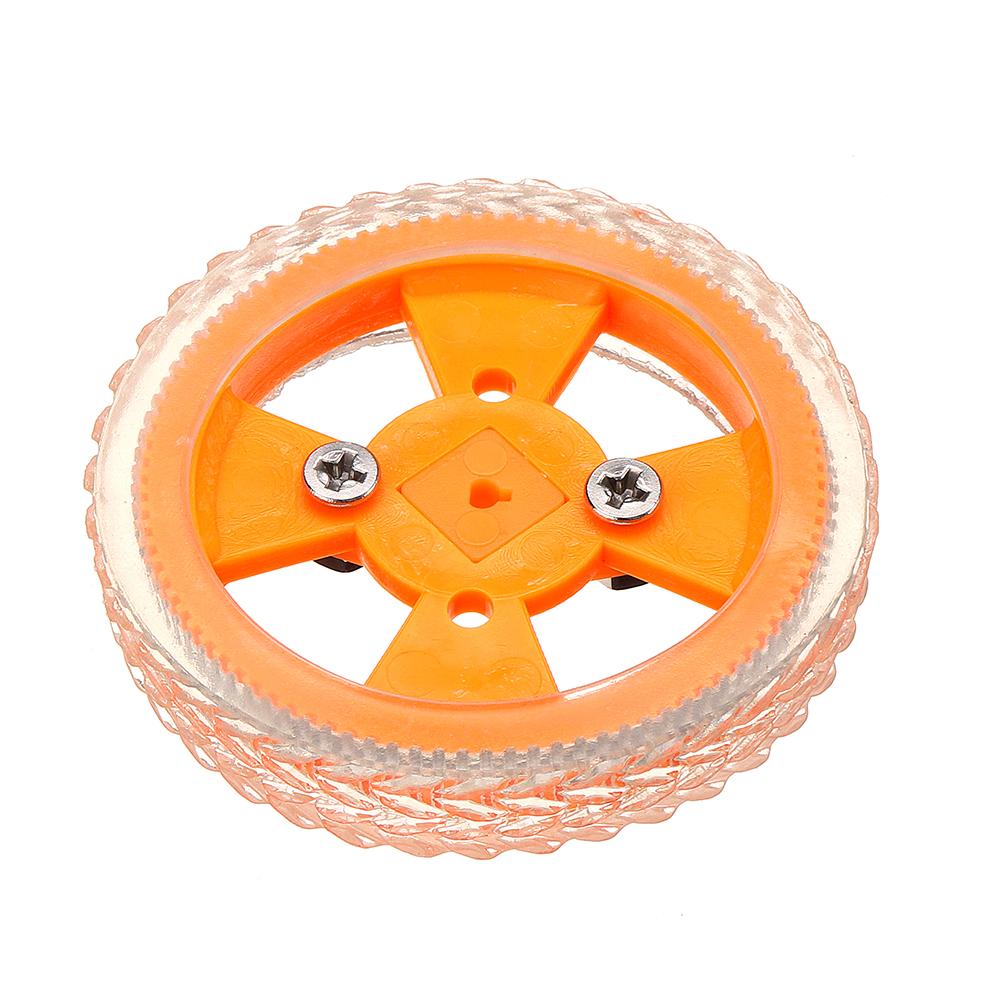 4шт 70 * 12мм Желтые износостойкие резиновые колеса для двигателя N20 - фото 3