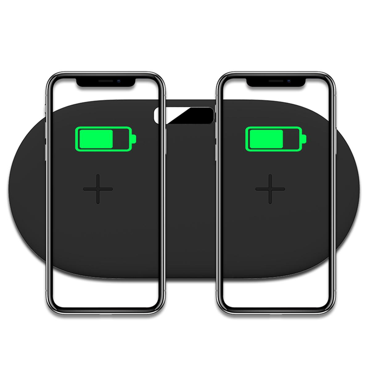 Type-C Порт 2 в 1 10W Беспроводное зарядное устройство Qi Быстрая зарядка Наушник Зарядное устройство для устройств с по - фото 2