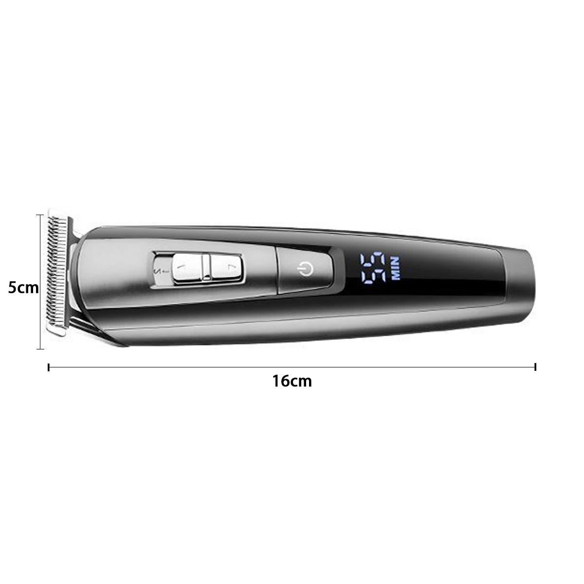 Мужская Волосы Clipper Аккумуляторная LCD Дисплей Электрическая Триммер Бритва Набор - фото 2
