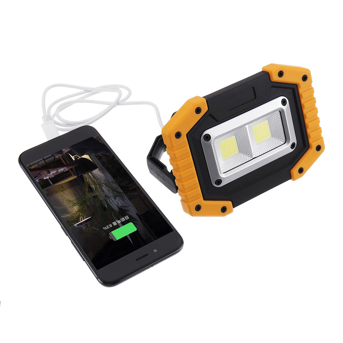 Xmund XD-SL2 30 Вт USB LED COB На открытом воздухе 3 режима рабочего освещения Кемпинг Фонарь аварийного фонаря Прожекто - фото 8