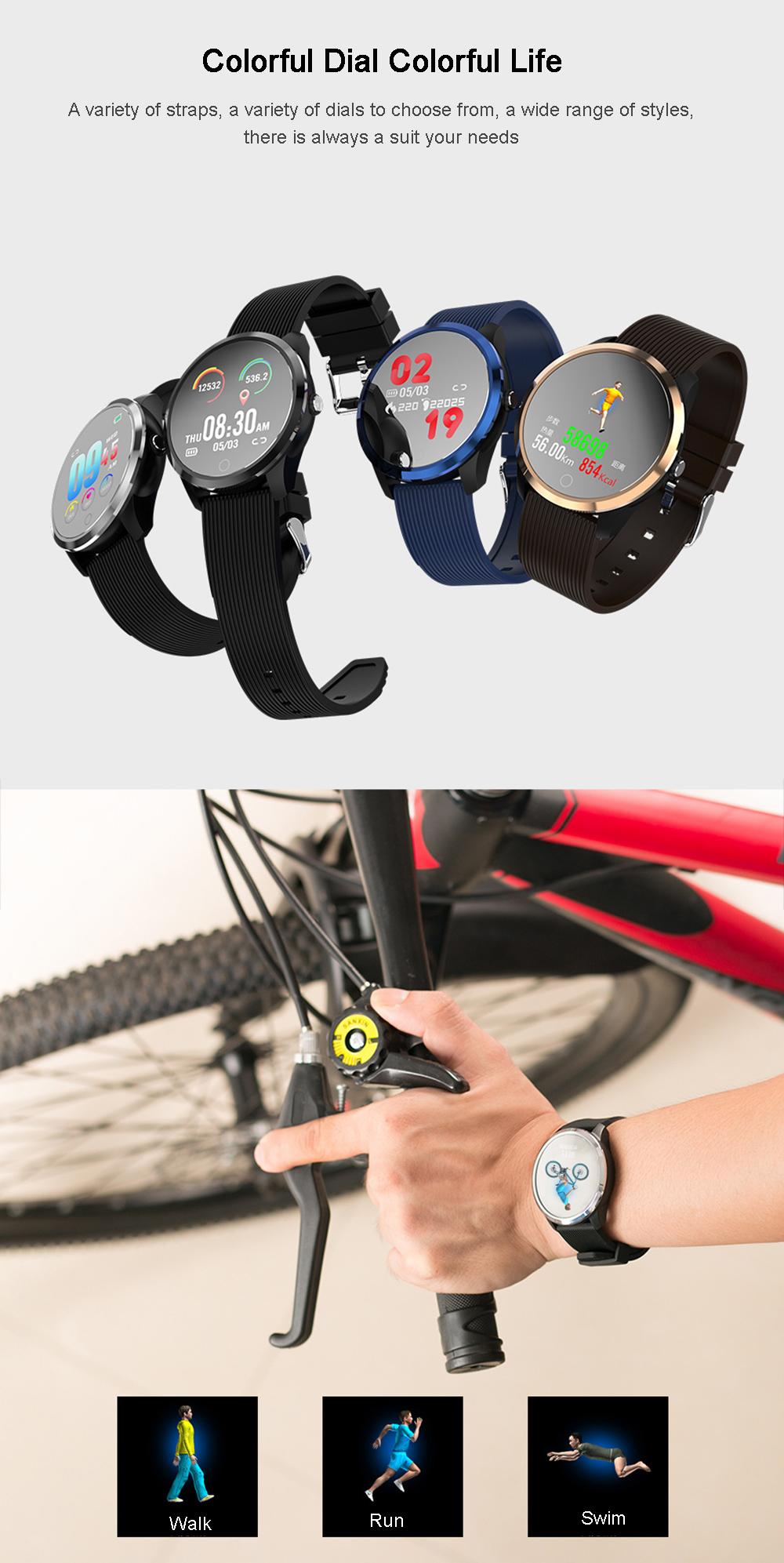 XANES®M011,3-дюймовыйцветнойэкранВодонепроницаемы Smart Watch Find Phone Фитнес Спортивный браслет - фото 10