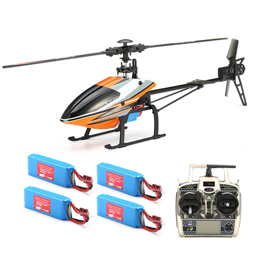 WLtoys V950 2.4G 6CH 3D6G System Бесколлекторный Flybarless RC Вертолет RTF с 4PCS 11.1V 1500MAH Lipo Батарея - фото 1